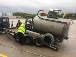 Titan unloading