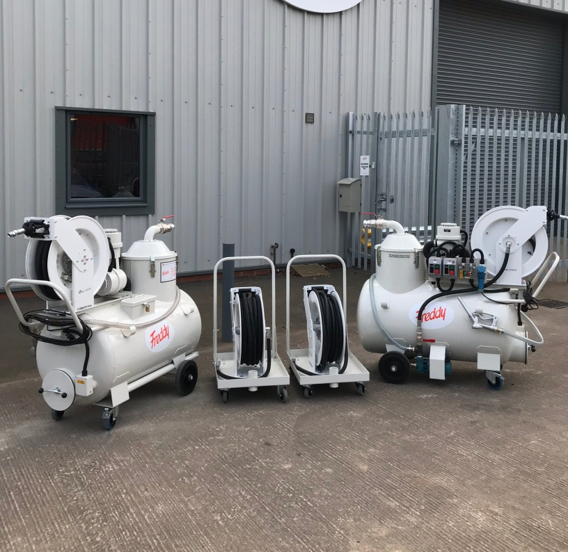 F1 bespoke white vacuums